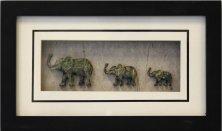 Obr�zek Elephant Black 14X23, 5cm 70531